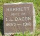 Harriett <I>Hand</I> Bacon