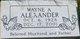 Wayne A Alexander