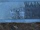 Willard W Wainscott