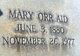 Profile photo:  Mary <I>Orr</I> Aid