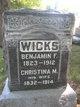 Profile photo:  Benjamin F Wicks