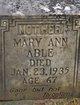 Profile photo:  Mary Ann <I>Hawkins</I> Able