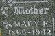 """Mary Katherine """"Molly"""" <I>Worley</I> Moser"""