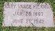 """Mary A. """"Mollie"""" <I>Vance</I> Hickman"""
