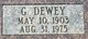 Profile photo:  G Dewey Albany