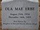 Ola Mae Erbe