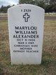 Mary Lou <I>Williams</I> Alexander
