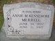 Profile photo:  Annie M. <I>Kennemore</I> Merrell
