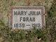 Profile photo:  Mary Julia <I>Warren</I> Foran