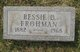 Profile photo:  Bessie D. <I>Miller</I> Frohman