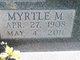 Myrtle Marie <I>Bender</I> Wittmer