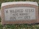 Profile photo:  M Mildred Ayers