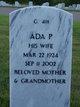 Profile photo:  Ada Pearl <I>Pigsley</I> Triggs