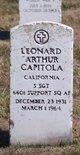Profile photo:  Leonard Arthur Capitola