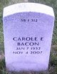 Profile photo:  Carole E Bacon