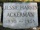 Profile photo:  Jessie <I>Huttleston</I> Ackerman