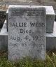 Profile photo:  Sallie <I>Harrell</I> Webb