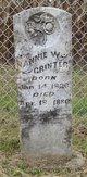 """Nancy W """"Nannie"""" Grinter"""