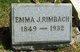 Emma J <I>Herrick</I> Rimbach