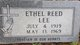 Profile photo:  Ethel <I>Reed</I> Lee