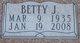 Betty Jane <I>Smith</I> Crawford