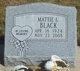 Mattie L. <I>Miller</I> Black