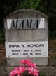 "Profile photo:  Aldora C ""Dora"" <I>Wilson</I> Morgan"