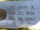 Jo Ann <I>Reed</I> Crowe