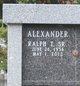 Profile photo:  Ralph T Alexander, Sr