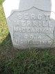 Sgt Merrill S McDearmon