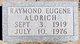 Raymond Eugene Aldrich