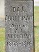 Profile photo:  Ida A. <I>Jamison</I> Addleman