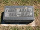 Fanny <I>Parkhurst</I> Adams