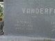 "W.M. Will ""Frog Eye"" Vanderford"