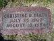 Profile photo:  Christine D <I>Busbey</I> Barth
