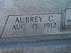 """Aubrey Carroll """"Bud"""" Garner"""