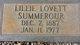 Lillie <I>Lovett</I> Summerour