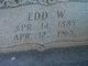"""Edward W. """"Edd"""" Palmer"""