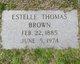 Profile photo:  Estelle <I>Thomas</I> Brown