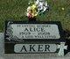 Profile photo:  Alice Aker