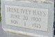 Profile photo:  Irene <I>Ivey</I> Hays