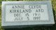 Profile photo:  Annie Clyde <I>Kirkland</I> Ard