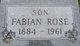 """Fabian """"Fay"""" Rose"""