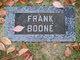 Profile photo:  Frank Boone