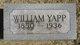Profile photo:  William Yapp