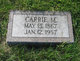 Carrie Minnetta <I>Johnston</I> Burke