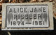 Profile photo:  Alice Jane Rissler