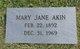 Mary Jane <I>Taylor</I> Akin