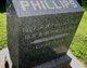 """Frances Augustus """"Fannie"""" <I>Bartholomew</I> Phillips"""
