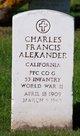 "Charles Francis "" "" <I> </I> Alexander,"